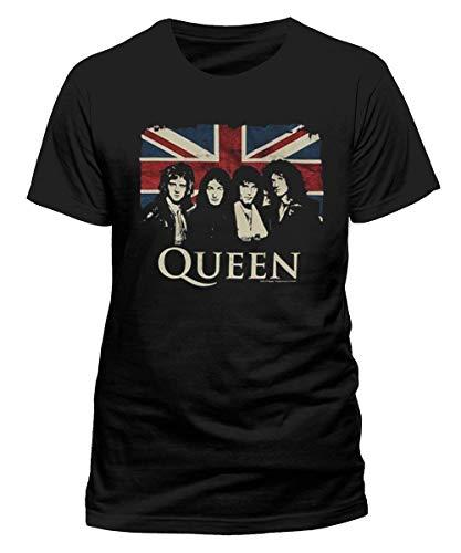 Rockoff Trade Queen Union Jack (Retail Pack) Camiseta, Negro (Black Black), XXL para Hombre