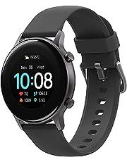 Smartwatch, UMIDIGI Urun S Fitness Tracker horloge, Bloed Zuurstofmonitor (SpO2) Pols Hartslagmeter, 5 ATM, Bluetooth Porthorloge voor Dames en Heren, Activitytracker voor Android iOS, Zwart
