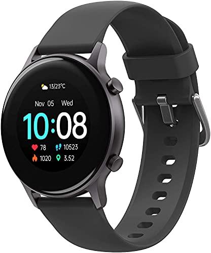 Smartwatch Uomo UMIDIGI Urun S, Orologio Fitness Tracker Monitor dell'ossigeno nel Sangue(SpO2) Cardiofrequenzimetro da Polso Sportivo Bluetooth Touch Calorie Smart Watch - Nero