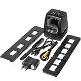 Libarty Escáner de Alta resolución Convierte Digital USB Negativos Diapositivas Escaneo fotográfico Convertidor de película Digital portátil 2.36 Pulgadas LCD