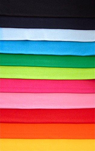 11x0,25m Bündchen Basic-Set Farbverlauf Schlauchware 70cm 95% Baumwolle 5% Elasten