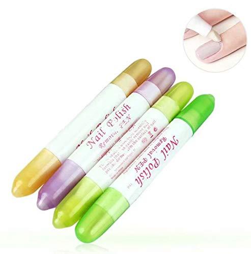 FOONEE Lápiz Corrector de uñas con acetona (5Unidades, 15Puntas de Recambio), Colores aleatorios