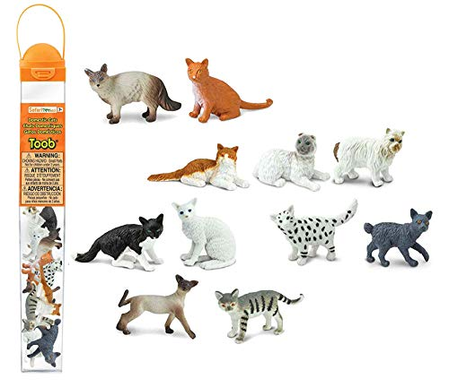 Plastoy - 6992-04 - Figurine - Animal - Tubo Chats Domestiques