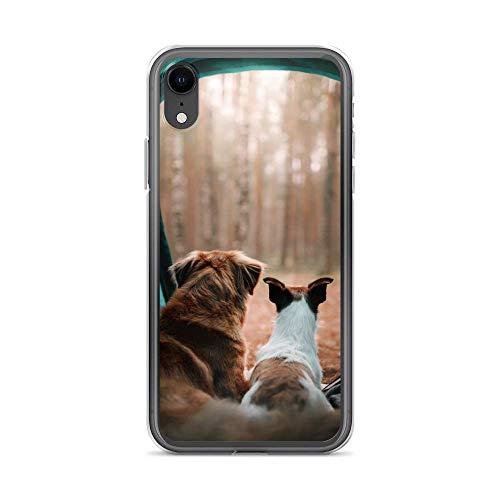 Handyhülle Spatz Storch kompatibel für Huawei Y5 Hunde Zelt Schutz Hülle Case Bumper transparent rund um Schutz Cartoon M1