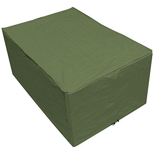 OXBRIDGE - Bâche pour Table de Jardin - rectangulaire/étanche - Garantie 5 Ans - Vert - Petite Taille
