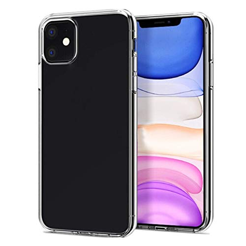 NEW'C Funda para iPhone 11, Funda Protectora absorción de Impactos y Fibra de Carbono [Gel Flex Silicone]