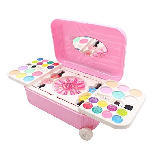 WUYANSE Juego de Maquillaje y cosmética Pretend Play con Maleta para niñas...
