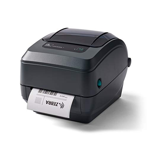 Zebra GK420t Thermal Transfer Desktop Printer Print Width of 4 in USB Serial and Parallel Connectivity GK42-102510-000