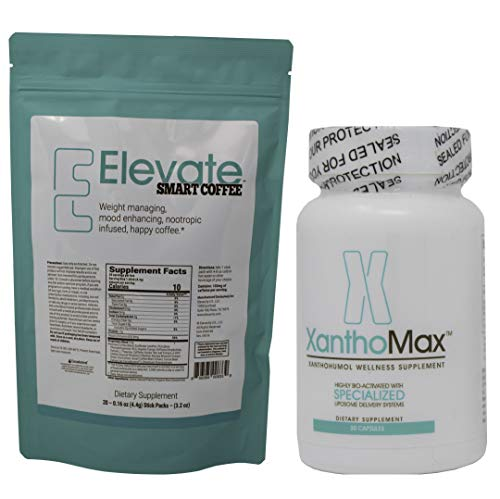 Elevate Coffee Packets and XanthoMax, Nootropics Infused Together to Make Happy Hormones! by Elevacity