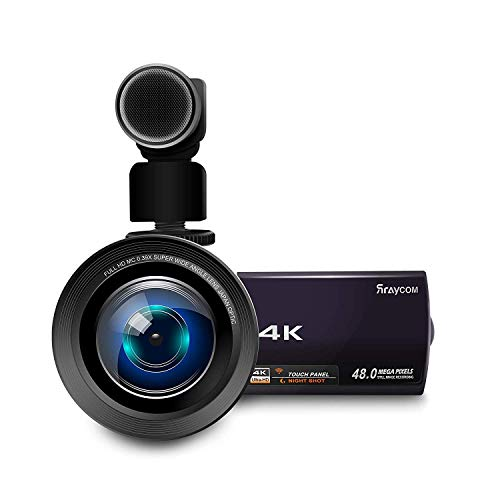 4K Video Camera Camcorder, Rraycom 48MP Ultra-HD WiFi Camcorders, 3 inch Touch Screen Night Vision 16X Digital Zoom Portable Digital Video Camera Recorder with External Microphone and Wide Angle Lens