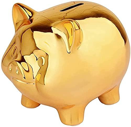 HKAFD Piggy Bank Girls Cute Pig Money Bank Banco de Monedas de cerámica Reutilizable Hucha de Juguete para niños Niñas Niños Niños pequeños Adultos Cumpleaños Decoración (Color: Piggy Bank)