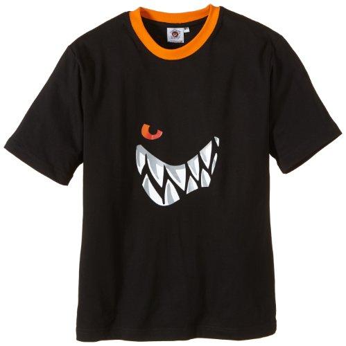 Die Wilden Kerle Kinder T-Shirt Grins Logo, schwarz, 164, 3500-031