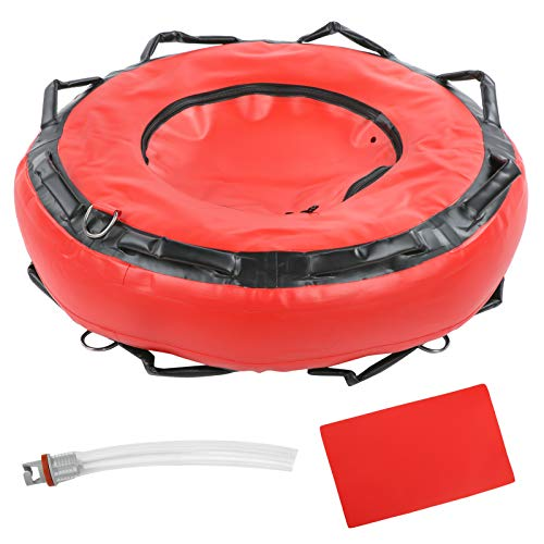 Fishawk Flotabilidad de Seguridad, boya de apnea, Marcador de Superficie para señalización de Superficie de Buceo, Deportes acuáticos(Red)