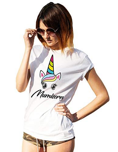 buzz shirts De Las Mujeres Mamá Unicornio Mumicorn Momicornio Camiseta Medio Unisexo