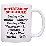 N/ A Regalo de mordaza de jubilación Calendario de jubilación Calendario Humor de la Oficina Regalo de compañero de Trabajo Taza de café Taza de té