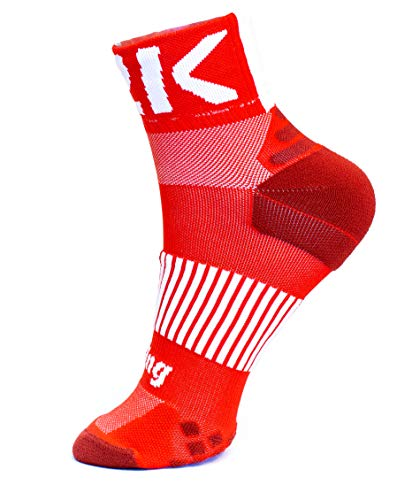 42K RUNNING - Calcetín Técnico 42k ETNA 10cm Rojo L (43-45)