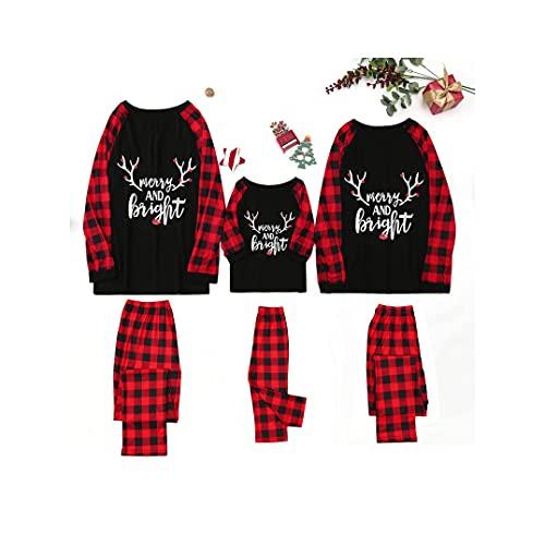 Fossen MuRope Pijama Familiar a Juego Pijamas Mujer Niña Niño Bebe Invierno - Pijama Navidad Familia Baratos Hombre Entero Reno
