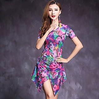 ac0eb08073a4 Belly Dance Dresses Women's Performance Spandex Pattern/Print 2 Pieces  Short Sleeve Natural Dress Shorts