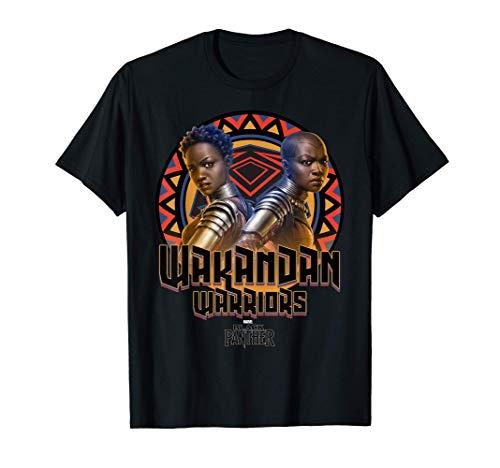 Marvel Black Panther Movie Warrior Circle Graphic T-Shirt T-Shirt