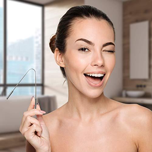 Zungenreiniger Zungenschaber ausreinemEdelstahlzum Mundgeruch bekämpfen von YOGAMEDIC – Zungenreinigung – Frischer Atem – Zungenbürste – Ayurveda - 6