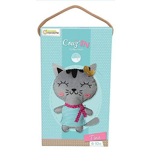 Avenue Mandarine 52654O Puppe Little Couz'In Nähsets (ideal für Kinder ab 6 Jahren) 1 Stück Tina die Katze