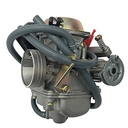 Fashion SHOP Carburador Carburador de Motocicleta de 24 mm Compatible con GY6 125 GY6 150cc 150 carburador ATV ciclomotor Controlar