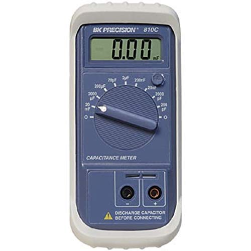 Meter; Capacitance; 200 pF to 20 mF; 0.1 pF to 10 μ F; 3-1⁄ 2 in. Digit L