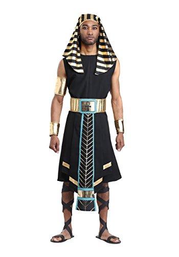 Disfraz de faran egipcio oscuro para hombre - Multi - X-Small