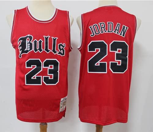 XHDH NBA Men's Bulls Jerseys # 23 Jordan Baloncesto Uniforme De Baloncesto Uniforme Suelto Y Cómodo Chaleco Deportivo Sin Mangas Top Camisetas,Rojo,XXL 185~190cm