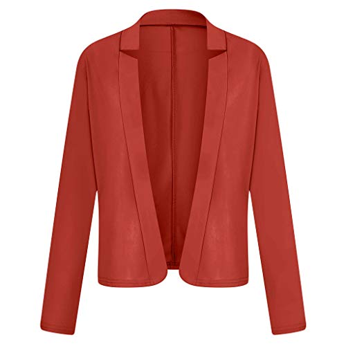 Eaylis Damen Anzugjacke Blazer Strickjacke Revers Modern Temperament Casual Frühling Herbst Cardigan Tunika für Office Business Damen Business Freizeit Party Jacke Womens Suit Coat Outwear