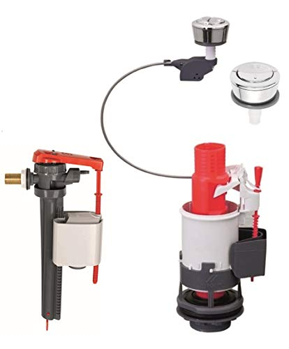"""Wirquin MW2 + JOLLYFILL, mécanisme de wc double chasse à câble + robinet flotteur servo-valve latéral 3/8"""""""