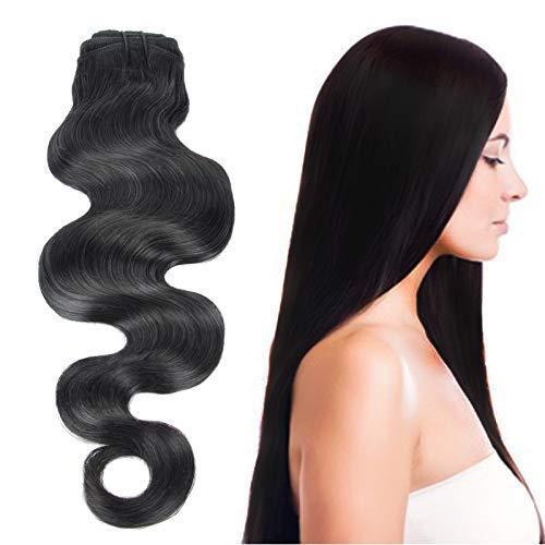8-30 Pouces 1 Bundle(3 Bundles promotion) 8A 100% Bresilien Cheveux humains Vierges Cheveux Humains Weave 100g Extensions capillaires/Noir naturelle B
