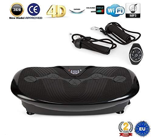 GLOBAL RELAX Zen Shaper® Plus Schwingen Fitness Vibrationsplatte –Schwarze (Modell 2020)-3 Automodi, 10 manuellen –MP3 Musik-3 Funktionen (Gehen–Joggen–Laufen) - 2 Jahre GARANTIE