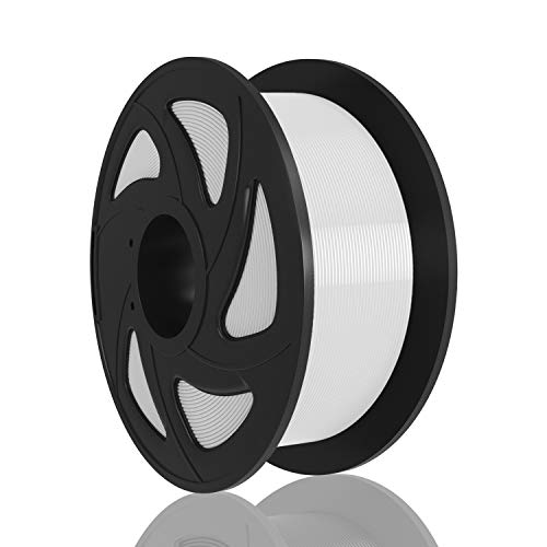 XVICO 3D Printer Filament PLA 1.75 mm White for 3D Printer and 3D Pen, 1 kg Spool (2.2 lbs)