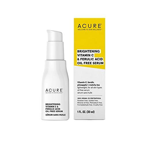 ACURE Brightening Vitamin C & Ferulic Acid Oil Free Serum, 1 OZ