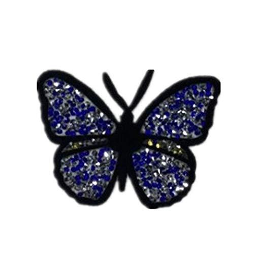 YuoungYuan Pegatinas para La Ropa Parches Termoadhesivos Ropa Apliques para Ropa Parches de Tela Bordado de Encaje Recorte de Encaje de algodón para Coser Butterfly