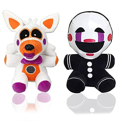 Five Nights Plush Toys at Freddy's Doll Stuffed Animal Freddy Plush, Plush Toy Gift for Kid's FNAF Fans (Marionette&Lolbit)