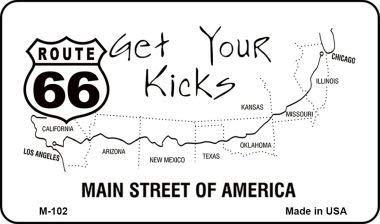 Koopje Wereld Route 66 Kaart Nieuwigheid Metalen Magneet (Met Sticky Notes)