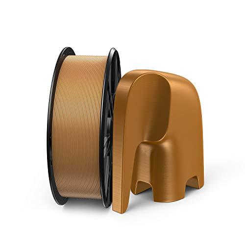 LABISTS Filamento PLA 1.75mm 1kg para Impresira 3D, Filamentos PLA Oro con Orificio de Rollo de Tamaño Estándar, sin Enredos, Envasado al Vacío, Diámetro de Tolerancia +/- 0,02 mm