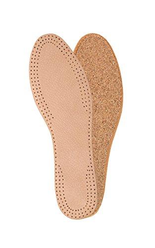 Kaps Einlegesohlen mit Korkschicht aus natürlichem Leder für Damen, Schuheinlagen, Ersatz-Schuhe, Stiefel (40 EUR)