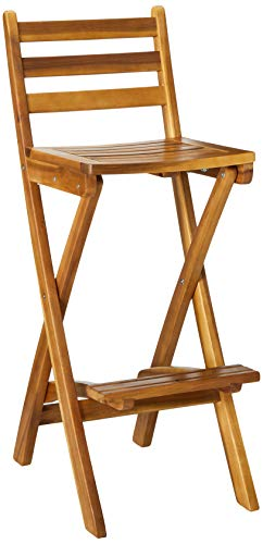 Christopher Knight Home Atlantic Outdoor Foldable Wood Barstool, 31', Natural Wood