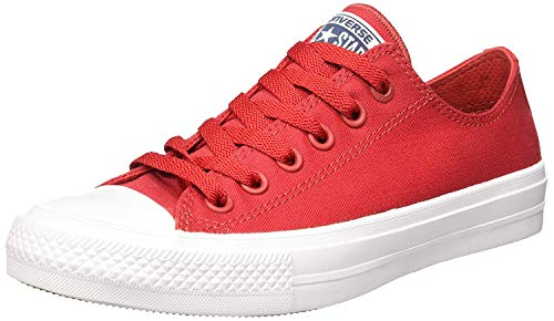 Converse Converse Unisex - Erwachsene Ct As Ii Ox Tencel Low-top, rot/weiß, 39.5 EU