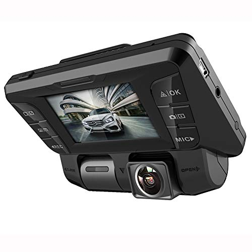 4K Full HD 340° Dashcam Auto Mit Nachtsicht Und Akku - 2,7In WIFI Vorne Hinten Dual Autokamera Mit Audio Bewegungsmelder G-Sensor Parkmonitor Und Loop-Aufnahme Für Parküberwachung, mit 128 GB SD Karte