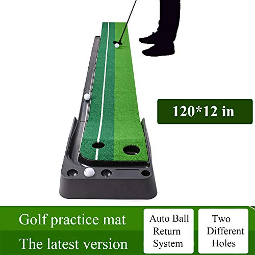 YINGJEE Golf Putting Mat Indoor, Golf Putting Green Outdoor 10ft, Portable Golf Trainer Practice...