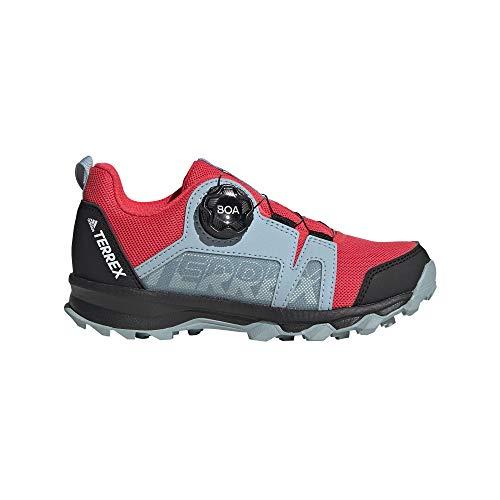 adidas Unisex-Erwachsene Terrex Agravic Boa K Leichtathletik-Schuh, Dämpfer Rot/FTWR Weiss/Aschengrau S18, 39 1/3 EU