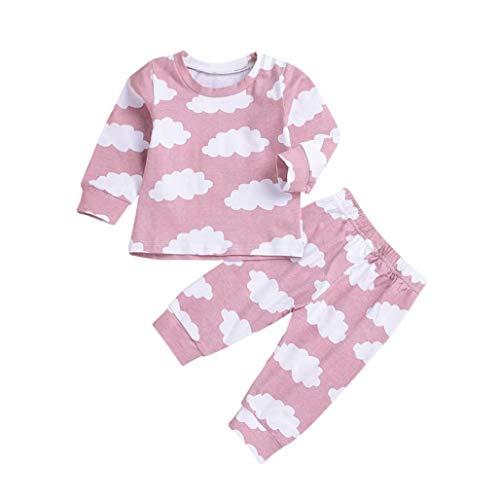 Mamum Garçons Filles Coton Pyjama Bébé Four Seasons Sous-vêtements Ensembles Enfants (rose, 90(18Mois))