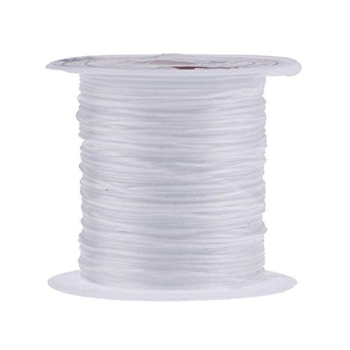 ULTNICE Filo Gioielli Perline Nylon Filo Elastico per Braccialetti Collane Trasparente 0.8mm 10m