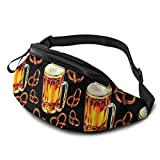 XCNGG Bolso de cintura corriente bolso de cintura de ocio bolso de cintura bolso de cintura de moda Beer Lamp Pretzel Pattern Belt Bag 13.7 X 5.5 inch Unisex Running Waist Packs Fashion Casual Waist B