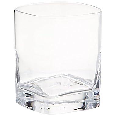 Luigi Bormioli Strauss Whisky Rocks Glass, 9-3/4-Ounce, Set of 6