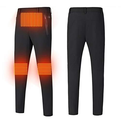 Yeah-hhi Pantalones calefactados con 3 zonas de calentamiento USB para hombre y...
